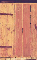detail of a wooden old door