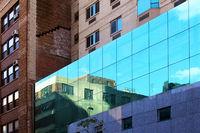 Facades of buildings in New York