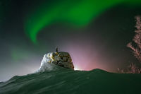 Aurora borealis above the Norway Finland border