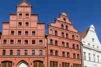 Historische Giebelhäuser in Stralsund, Deutschland, historic houses with gables, Stralsund, Germany