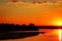 Sonnenuntergang am Luangwa, South Luangwa Nationalpark, Sambia | Sunset at Luangwa, South Luangwa Nationalpark, Zambia