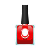 Red Nail Polish Bottle