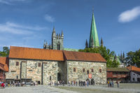 The Archbishops Palace Behind Cathedral, Trondheim, Norway