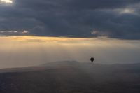 Landscape of Cappadocia with balloon in Cappadocia, Turkey