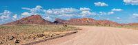 road in Namib desert, Namibia Africa landscape