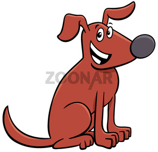 cartoon brown dog comic animal character