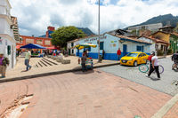 Bogota small square Chorro of Quevedo panorama