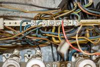 alte elektrische Verteilung Lebensgefahr