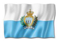 San Marino flag isolated on white