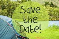 Lake Camping, Text Save The Date