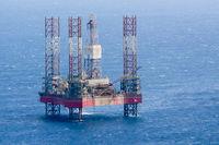 oil platform in the mediterranean sea