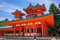 Heian Jingu Shrine temple, Kyoto, Japan