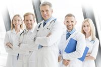 Successful team of medical doctors