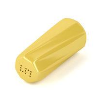 Yellow salt shaker