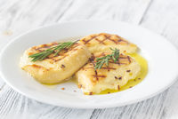Grilled cheese with fresh rosemary
