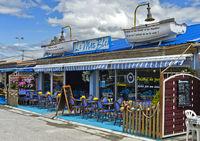 Austernrestaurant in der Austernzüchterei Leucate