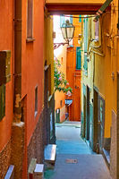 Old colorful narrow street in Riomaggiore