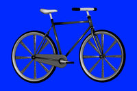 Modern bicycle, 3d illustration