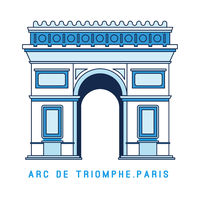 Line art Triumphal Arch, Arc de Triomphe, Paris, European famous monument, vector illustration in flat style.