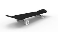 3d rendering of a skateboard isolated in white background