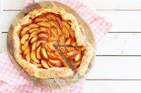 Peach Pie mit Blaetterteig