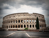 Gray clouds over Colosseum