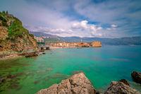 Beautiful Adriatic sea coast around Budva