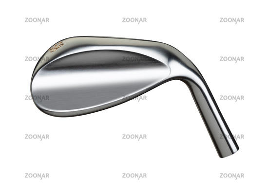 Blank Golf Club Wedge Iron Head Back Isolated on a White Background