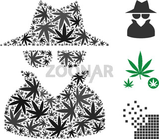 Spy Collage of Cannabis