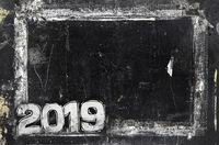 2019 Happy New Year Grunge Background