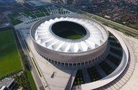 Krasnodar Stadium in the city of Krasnodar. The modern building of the stadium in the south of Russia.