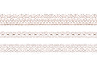 Pastel color lace ribbons isolated shot