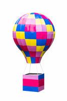 hot air balloon model isolated