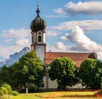 Church in the village Krün in Bavaria