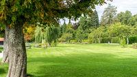 park at Tutzing Bavaria Germany