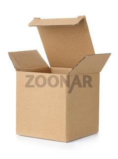 Open brown cardboard box