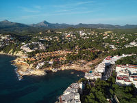 Costa de la Calma coastline, Mallorca. Spain