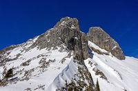 Gipfel Les Jumelles, Zwillinge, Luftbild, Taney, Vouvry, Wallis, Schweiz