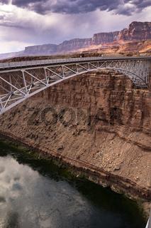 Bridge Over the Colorado River at the Navajo Bridge at Marble Canyon