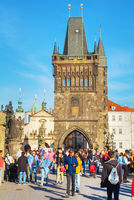 The Old Town with Charles bridge in Prague