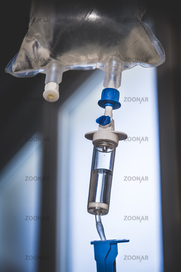 Intravenous drip equipment in hospital