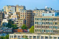 Skyline urban architecture Bucharest, Romania