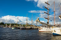 Segelschiffe auf der Hanse Sail in Rostock