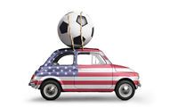 USA football car