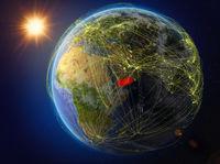 Yemen on Earth with network