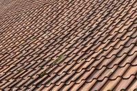 Orange red ceramic tiles