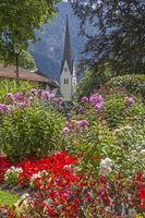 Kirche und Kurpark in Bayrischzell