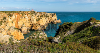 Cliffs view on Lagos, Algarve