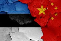 flags of Estonia and China