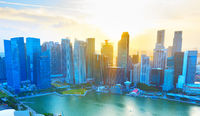 Panorama of Singapore business Downtown